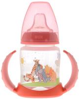 Купить NUK Бутылочка-поильник Disney с силиконовым носиком от 6 до 18 месяцев цвет коралловый 150 мл