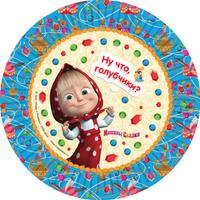 Купить Маша и Медведь Тарелка бумажная Машины сказки 6 шт, Росмэн, Сервировка праздничного стола