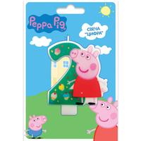 Купить Peppa Pig Свеча для торта Цифра 2, Росмэн