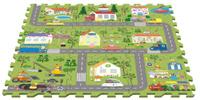Купить Peppa Pig Коврик-пазл Город Пеппы, Росмэн, Развивающие коврики