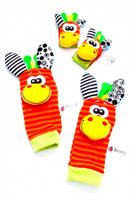 Купить Bradex Комплект носочков и напульсников с погремушками Забавные зверюшки, Развивающие игрушки
