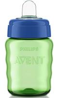 Купить Philips Avent Поильник-непроливайка Comfort от 12 месяцев цвет салатовый синий 260 мл SCF553/00