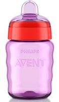 Купить Philips Avent Поильник-непроливайка Comfort от 12 месяцев цвет фиолетовый красный 260 мл SCF553/00