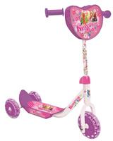 Купить 1TOY Самокат детский трехколесный Красотка цвет розовый белый, Solmar Pte Ltd
