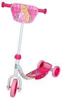 Купить 1TOY Самокат детский трехколесный Barbie цвет белый розовый, Solmar Pte Ltd