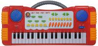 Купить ABtoys Синтезатор DoReMi 37 клавиш цвет красный