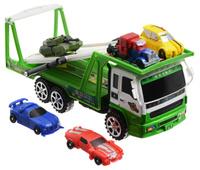 Купить Junfa Toys Игровой набор Автовоз и 5 машинок-трансформеров цвет автовоза зеленый, Машинки