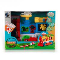 Купить Plastic Toy Развивающая игрушка Паровозик цвет голубой, Shantou City Daxiang Plastic Toy Products Co., Ltd, Развивающие игрушки