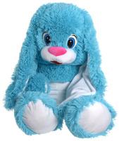 Купить СмолТойс Мягкая игрушка Зайчонок цвет голубой 60 см