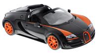 Купить Rastar Радиоуправляемая модель Bugatti Veyron 16.4 Grand Sport Vitesse цвет черный оранжевый 70420