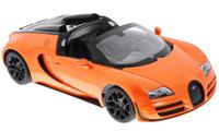 Купить Rastar Радиоуправляемая модель Bugatti Veyron 16.4 Grand Sport Vitesse цвет оранжевый 70400