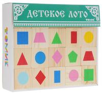 Купить Томик Детское лото Геометрические фигуры цвет коробки зеленый, Обучение и развитие