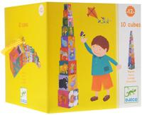 Купить Djeco Кубики-пирамида Забавные кубики