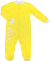 Купить Комбинезон для девочки КотМарКот, цвет: лимонный. 6262. Размер 86, 12-18 месяцев, Одежда для новорожденных