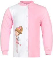 Купить Кофточка для девочки КотМарКот, цвет: розовый, белый. 7163. Размер 80, 9-12 месяцев, Одежда для новорожденных
