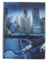 Купить Listoff Тетрадь Большой город 100 листов в клетку формат А4