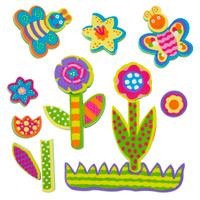 Купить Alex Игрушка для ванной Фигурки-стикеры Сад, Alex Toys, Первые игрушки