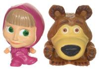 Купить Маша и Медведь Фигурка-мялка Маша в платочке 2 шт
