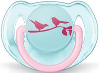 Купить Philips Avent Пустышка ортодонтическая FreeFlow Птички 6-18 месяцев