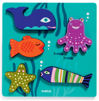Купить Djeco Пазл для малышей Морские животные, Djeco Sarl