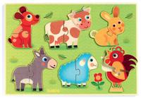 Купить Djeco Пазл для малышей Животные на лугу, Djeco Sarl, Обучение и развитие