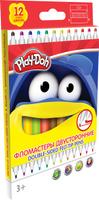 Купить Play-Doh Набор двусторонних фломастеров 12 цветов