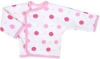 Купить Распашонка для девочки Трон-плюс, цвет: белый, розовый. 5163_ОЗ14_горох. Размер 86, 18 месяцев, Одежда для новорожденных