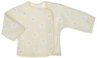 Купить Распашонка для девочки Трон-плюс, цвет: желтый, белый. 5163_ВЛ15_ромашки. Размер 86, 18 месяцев, Одежда для новорожденных