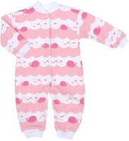 Купить Комбинезон детский Трон-плюс, цвет: белый, розовый. 5813_ВЛ15_кит. Размер 68, 6 месяцев, Одежда для новорожденных