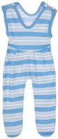 Купить Ползунки с грудкой для мальчика Трон-плюс, цвет: белый, голубой, светло-серый. 5211_ОЗ14_полоски 1. Размер 68, 6 месяцев, Одежда для новорожденных