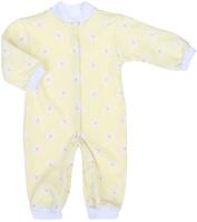 Купить Комбинезон для девочки Трон-плюс, цвет: желтый, белый. 5813_ВЛ15_ромашки. Размер 86, 18 месяцев, Одежда для новорожденных