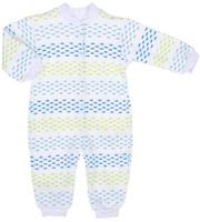 Купить Комбинезон детский Трон-плюс, цвет: белый, голубой, салатовый. 5813_ВЛ15_рыбки. Размер 74, 9 месяцев, Одежда для новорожденных