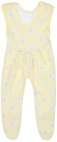Купить Ползунки с грудкой для девочки Трон-плюс, цвет: желтый, белый. 5211_ВЛ15_ромашки. Размер 68, 6 месяцев, Одежда для новорожденных