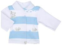 Купить Кофточка Трон-плюс, цвет: белый, голубой, серый. 5165_ОЗ14_котята. Размер 74, 9 месяцев, Одежда для новорожденных