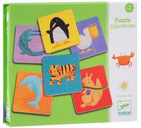 Купить Djeco Пазл для малышей Разноцветные животные, Djeco Sarl