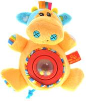 Купить Мир Детства Мягкая игрушка-погремушка Артистка Виолетта цвет круга красный, Мир детства, Первые игрушки