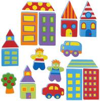 Купить Alex Игрушка для ванной Фигурки-стикеры Город, Alex Toys
