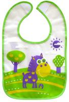 Купить Lubby Нагрудник на липучке В мире животных цвет зеленый фиолетовый