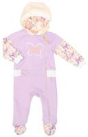 Купить Комбинезон для девочки Lucky Child Тропический рай, цвет: дынный, сиреневый. 26-3. Размер 80/86, 12-18 месяцев, Одежда для новорожденных