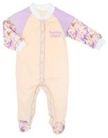 Купить Комбинезон для девочки Lucky Child Тропический рай, цвет: дынный, сиреневый. 26-1ф. Размер 80/86, 12-18 месяцев, Одежда для новорожденных