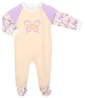 Купить Комбинезон для девочки Lucky Child Тропический рай, цвет: дынный, сиреневый. 26-13. Размер 80/86, 12-18 месяцев, Одежда для новорожденных
