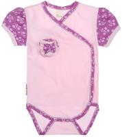 Купить Боди для девочки Lucky Child Цветочки, цвет: светло-розовый, сиреневый. 11-51. Размер 68/74, 3-6 месяцев, Одежда для новорожденных