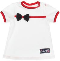 Купить Футболка для девочки Lucky Child Романтик, цвет: молочный. 18-26. Размер 80/86, 12-18 месяцев, Одежда для новорожденных