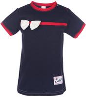 Купить Футболка для девочки Lucky Child Романтик, цвет: темно-синий. 18-26. Размер 80/86, 12-18 месяцев, Одежда для новорожденных
