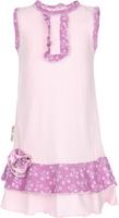 Купить Платье для девочки Lucky Child Цветочки, цвет: розовый. 11-61. Размер 80/86, 12-18 месяцев, Одежда для новорожденных