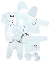 Купить Подарочный комплект для мальчика Lucky Child Big Boss, цвет: светло-голубой, 9 предметов. 3-1000. Размер 62/68, Одежда для новорожденных