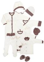 Купить Подарочный комплект для новорожденного Lucky Child Ангелочки, цвет: молочный, кофейный, 9 предметов. 17-1000. Размер 62/68, Одежда для новорожденных