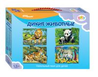 Купить Step Puzzle Пазл для малышей Дикие животные 4 в 1, Степ Пазл ЗАО (Россия)