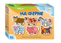 Купить Step Puzzle Пазл для малышей На ферме 6 в 1, Степ Пазл ЗАО (Россия)
