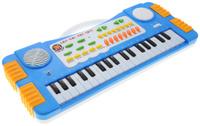 Купить ABtoys Синтезатор DoReMi 37 клавиш цвет синий